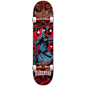 Darkstar Stardust FP Premium Complete Skateboard Red 7.625