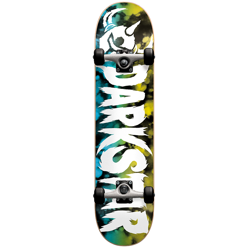 Darkstar Ultimate Complete Skateboard Yellow/Blue -with soft wheels- 7.75