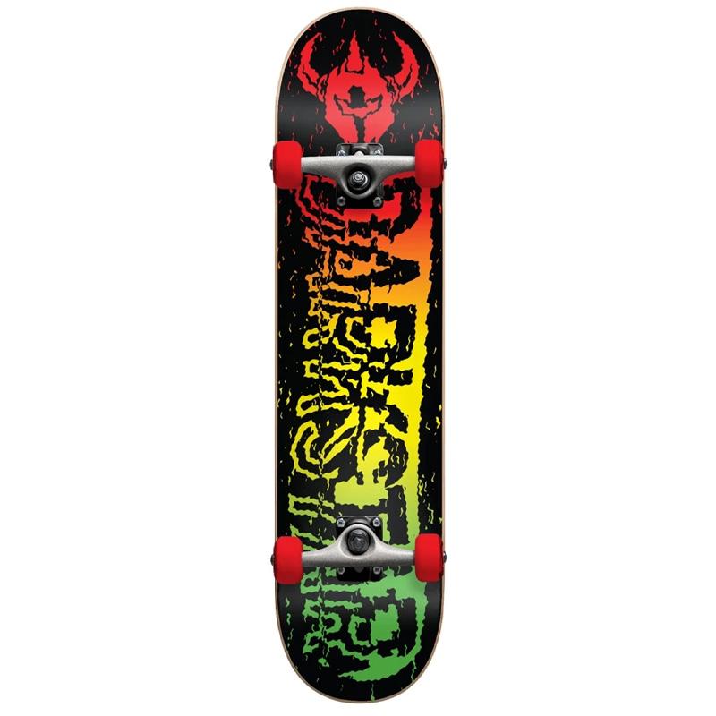 Darkstar VHS First Push Complete Skateboard w/Soft Wheels Rasta 7.5