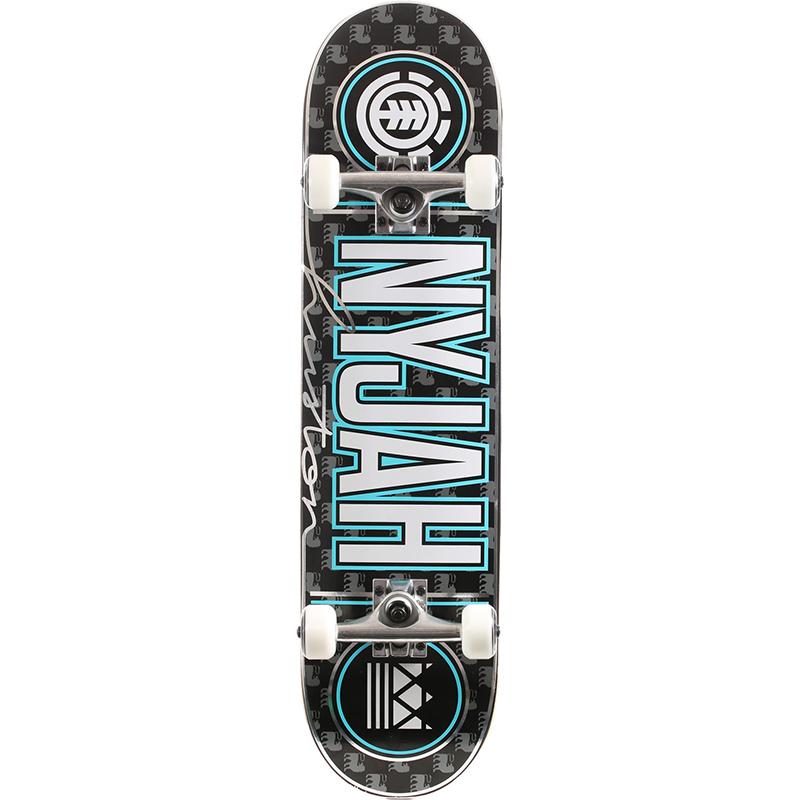 Element Nyjah Signed Complete Skateboard 7.75