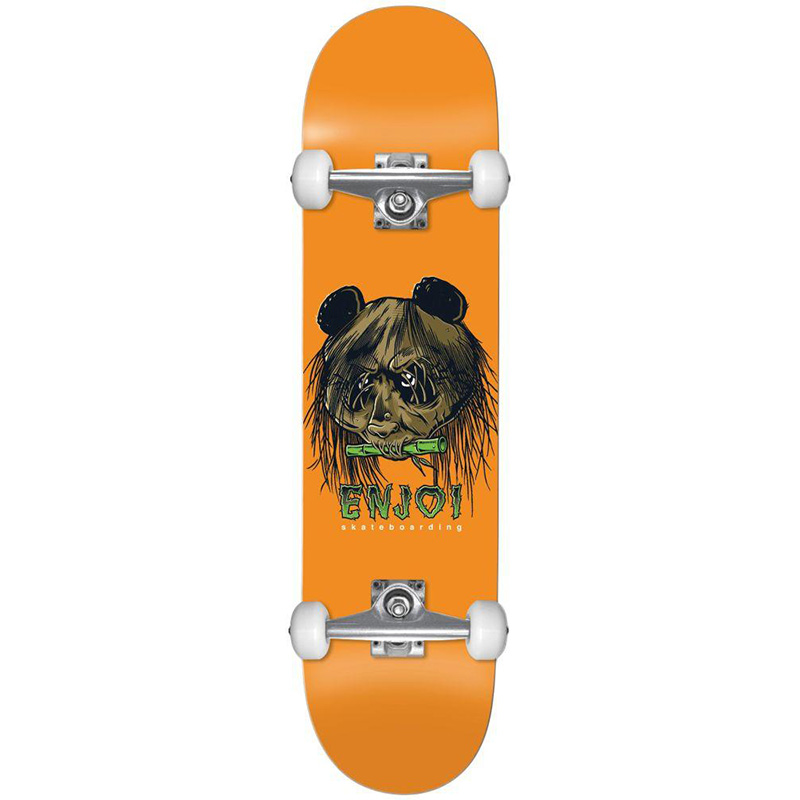 Enjoi 80's Head FP Complete Skateboard Orange 7.5