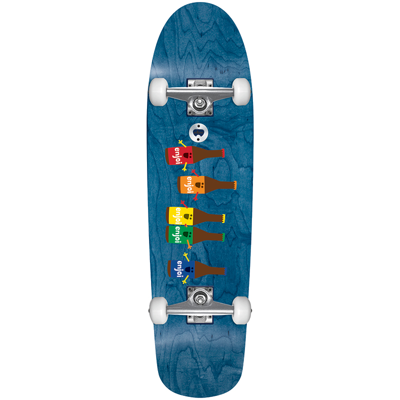enjoi Beer Run Cruiser Skateboard Premium Complete Skateboard Blue 31.0
