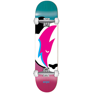 enjoi Big Head Stardust FP Complete Skateboard Blue/Pink 7.5