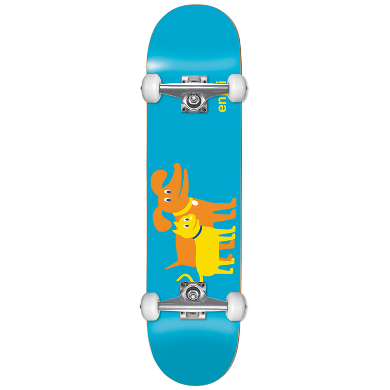 Enjoi Cat & Dog Youth First Push Complete Skateboard Blue 7.0