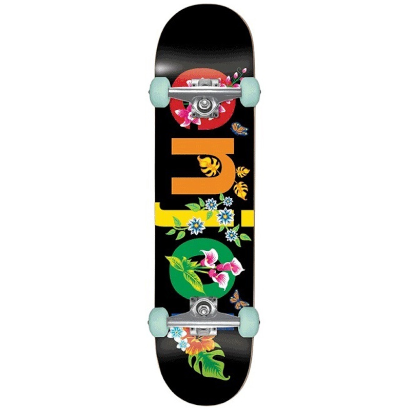 Enjoi Flowers Resin Premium Complete Skateboard Black 8.0