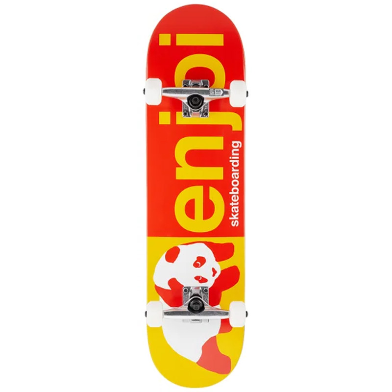 Enjoi Half and Half First Push Complete Skateboard Red/Yellow 8.0