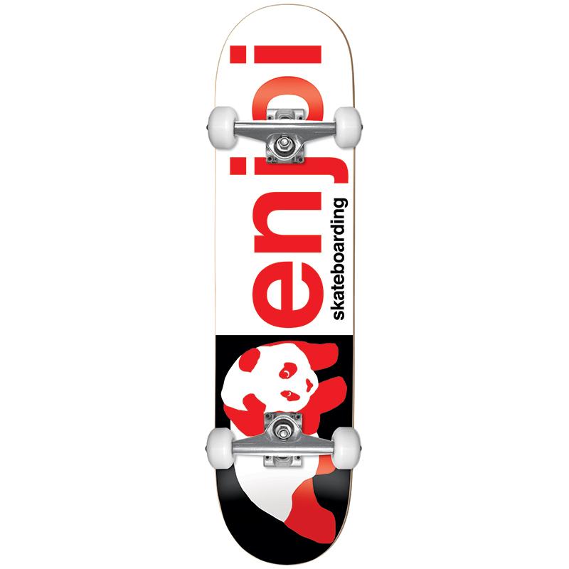 enjoi Half and Half FP Complete Skateboard Black/Red 8.0