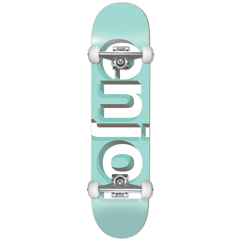 Enjoi Helvetica Neue First Push Complete Skateboard Aqua 8.0