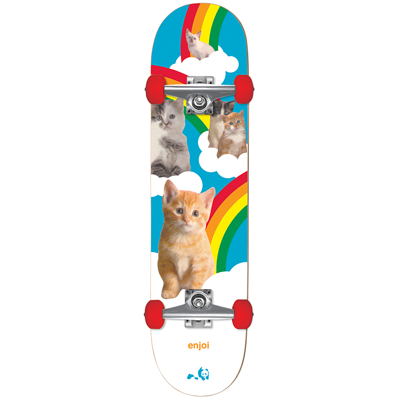 Enjoi Kitten Dreams Complete Skateboard With Softer Wheels 7.625