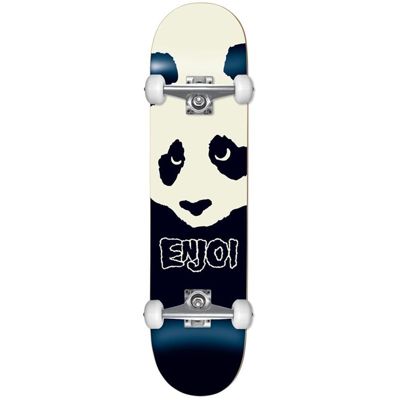 Enjoi Misfit Panda First Push Complete Skateboard Black 7.625
