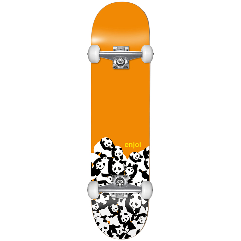 enjoi Panda Pile FP Complete Skateboard Orange 7.625