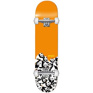 enjoi Panda Pile FP Complete Skateboard Orange 7.625