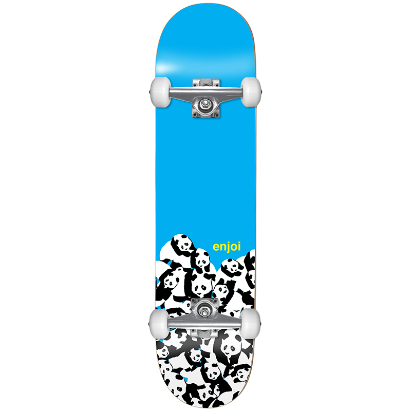 enjoi Panda Pile Youth FP Complete Skateboard Blue 7.0
