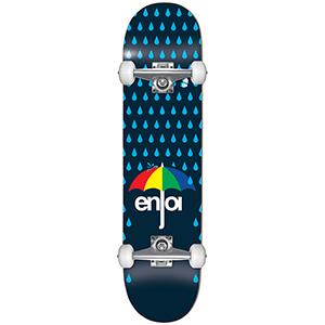 enjoi Raining Panda R7 Complete Skateboard Dark Blue -with soft wheels- 7.625