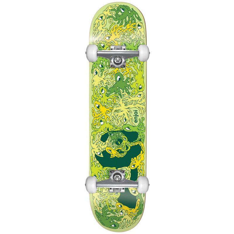 enjoi Slimer Panda FP Complete Skateboard Green/Yellow 7.5