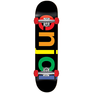 enjoi Spectrum Resin Soft Wheels Complete Skateboard Black 7.625