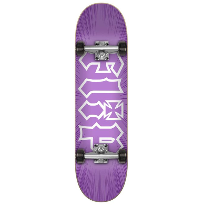 Flip HKD Burst Complete Skateboard Purple 7.75