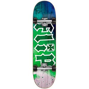 Flip HKD Tie Dye Complete Skateboard Green 7.88