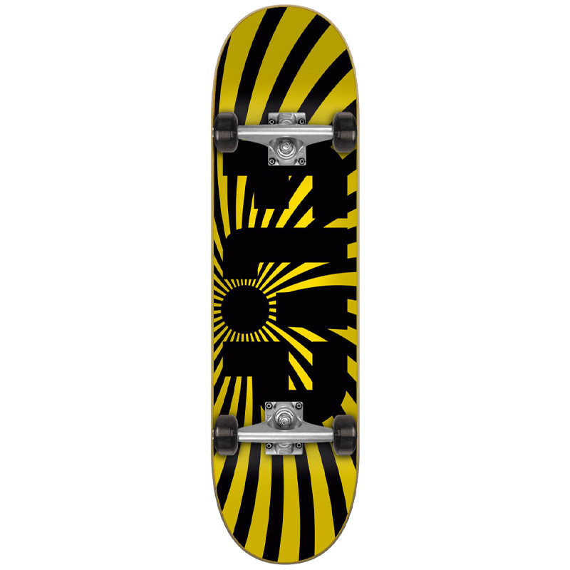 Flip Spiral Complete Skateboard Yellow 8.0