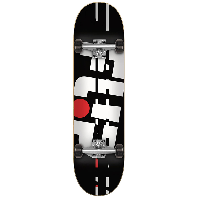 Flip Team Odyssey Glitch Complete Skateboard Black 7.0
