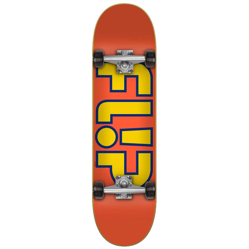 Flip Team Outlined Complete Skateboard Orange 8.0