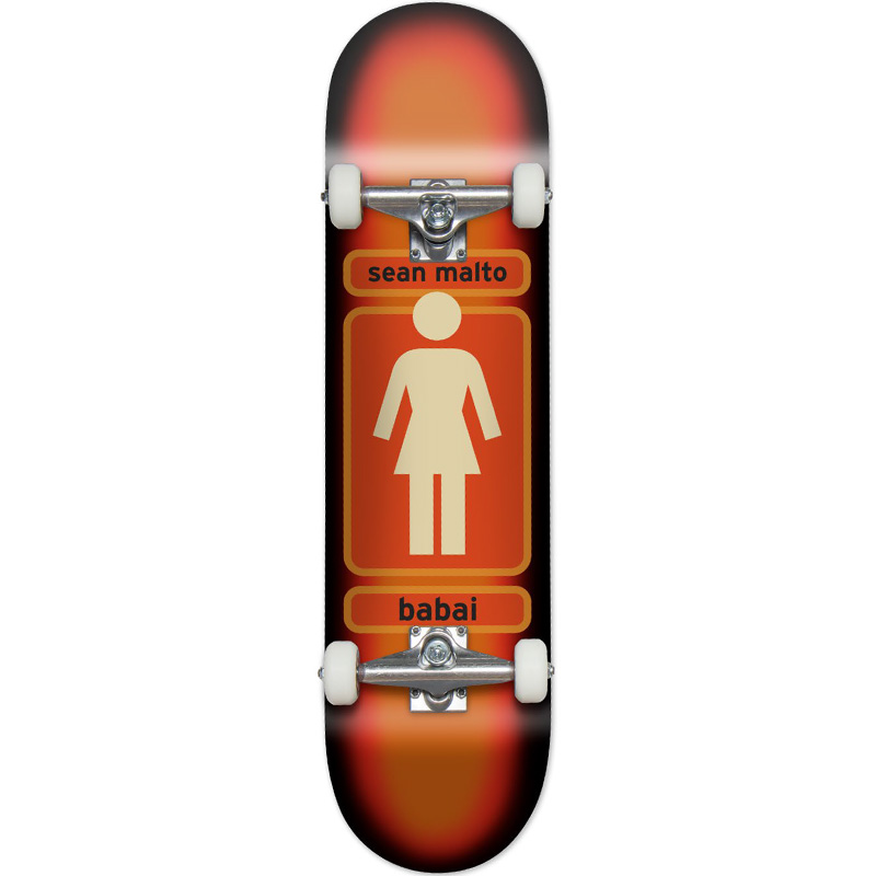 Girl 93 Til Sean Malto Complete Skateboard Orange Fade 7.75