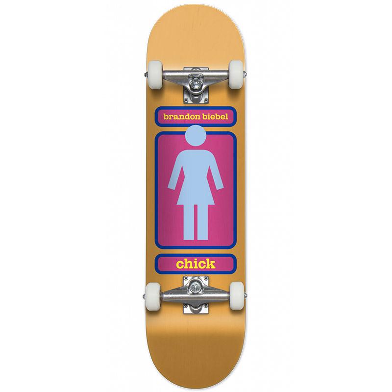 Girl Biebel Chick 93 Til Complete Skateboard 7.5