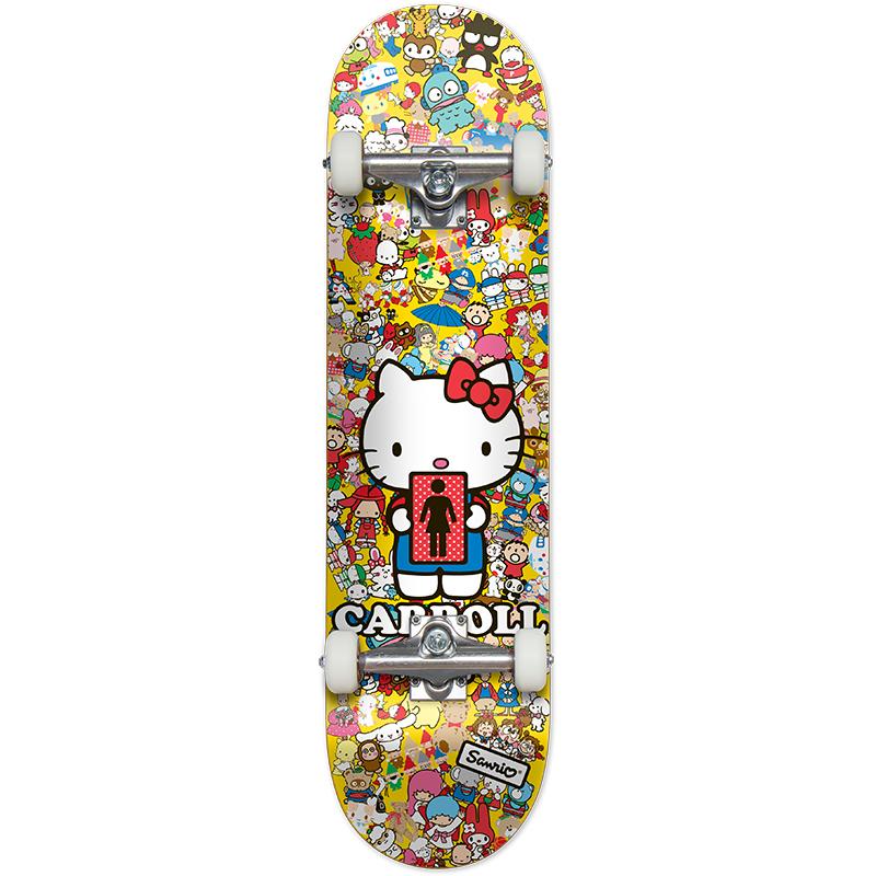 Girl Carroll Hella Kitty #2 Complete Skateboard 7.3
