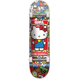 Girl Carroll Hella Kitty Complete Skateboard 7.5
