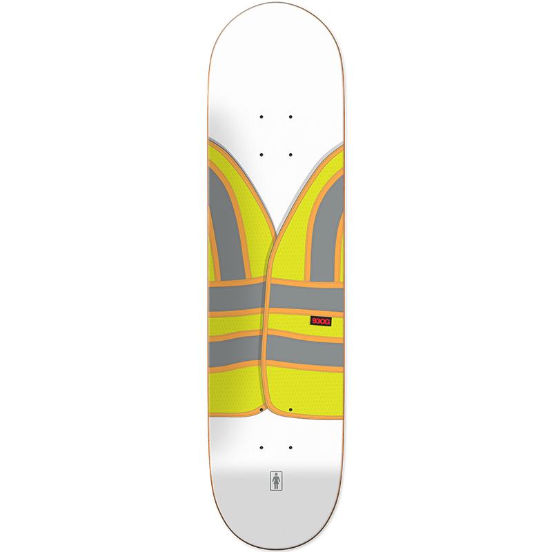 Girl Cory Kennedy Safety Vest Skateboard Deck 8.5