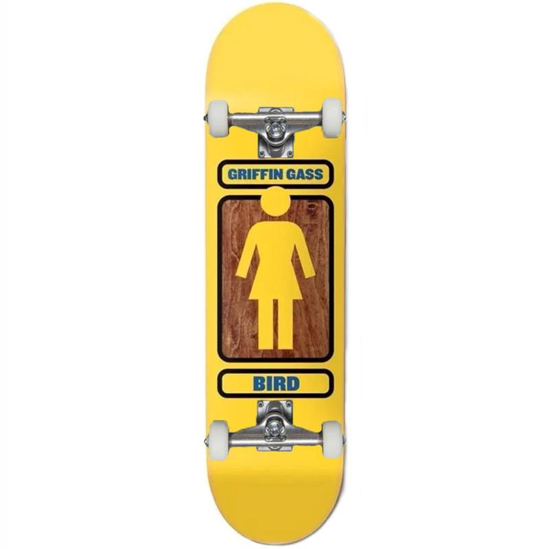 Girl Gass 93 Til Complete Skateboard Yellow 8.0