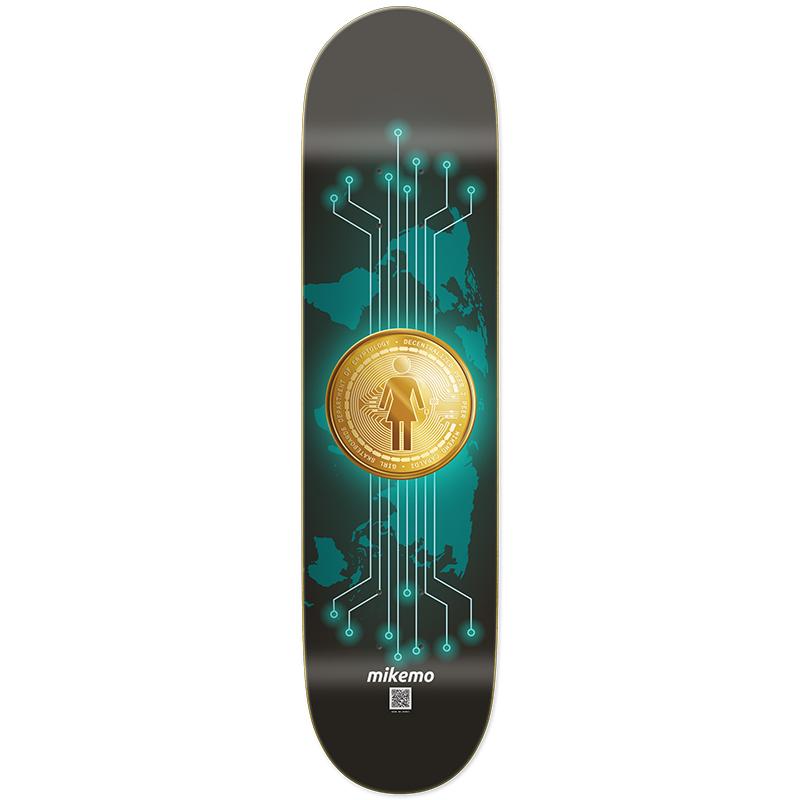 Girl Mike Mo Capaldi Crypto Currency Skateboard Deck 8.0