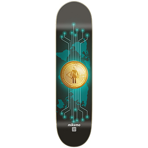 Girl Mike Mo Capaldi Crypto Currency Skateboard Deck 8.0