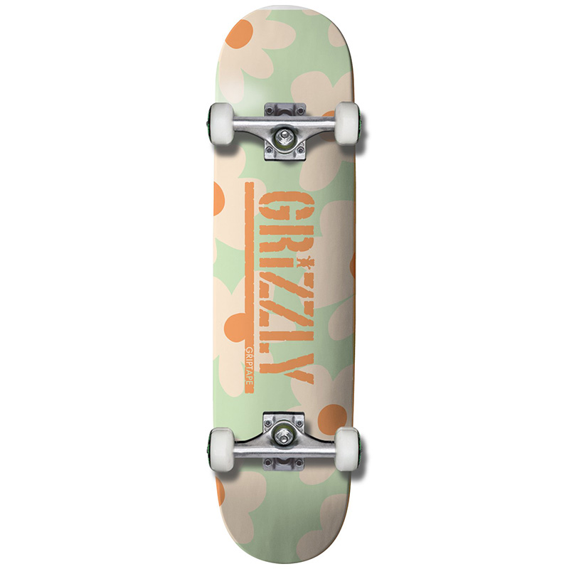 Grizzly Power Flower Complete Skateboard Mint 7.75
