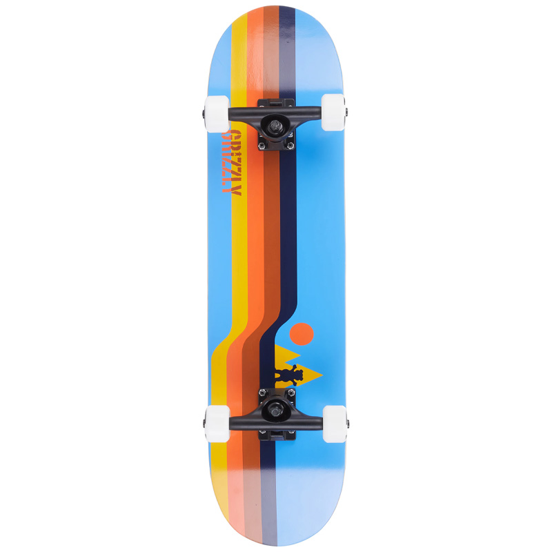 Grizzly Retro Lines Complete Skateboard 8.0