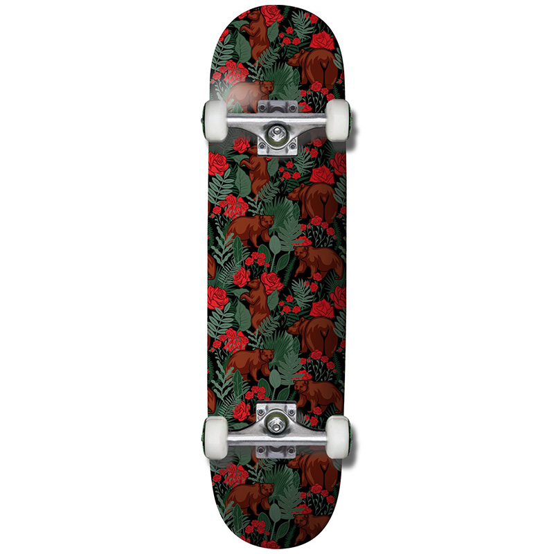 Grizzly Rose Garden Complete Skateboard Red 8.0