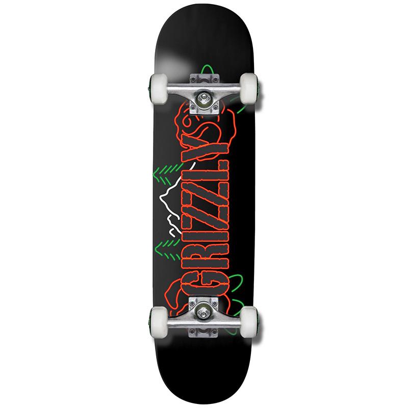 Grizzly Rosebud Complete Skateboard Black 8.0