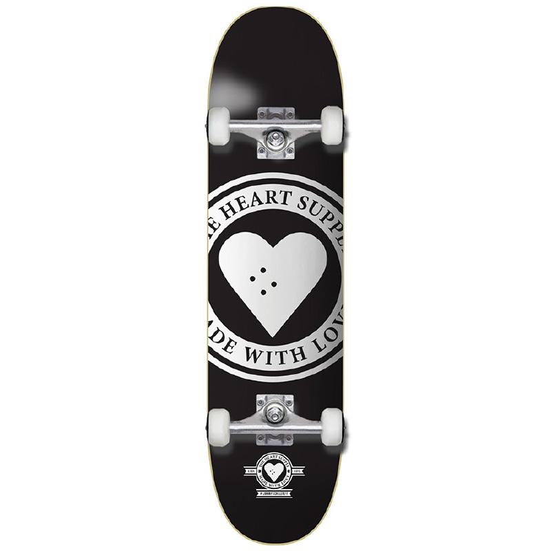 The Heart Supply Badge Logo Complete Skateboard Black 7.75
