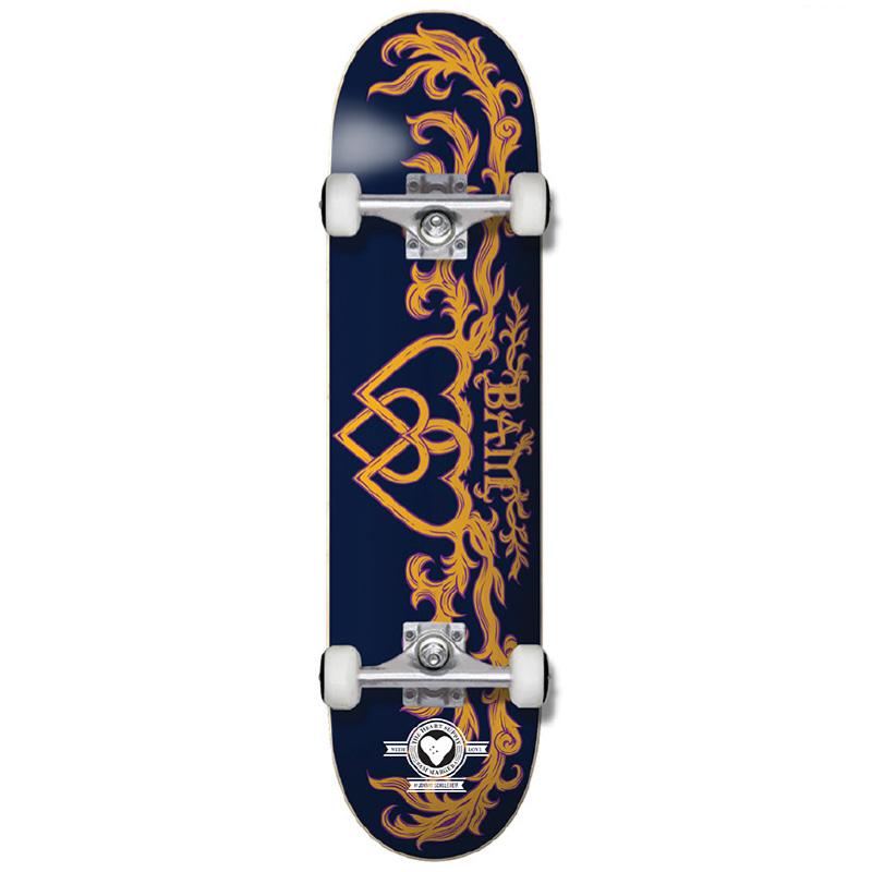 Heart Supply Bam Margera Bamly Pro Complete Skateboard Blue/Yellow 8.0