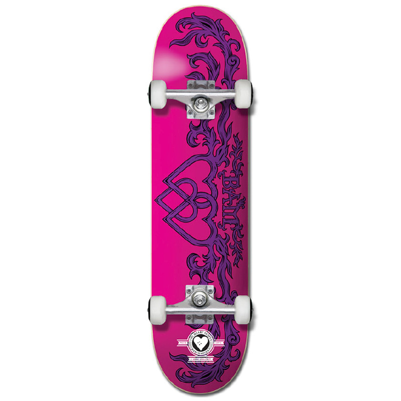 The Heart Supply Bam Margera Bamly Pro Complete Skateboard Pink/Purple 7.75