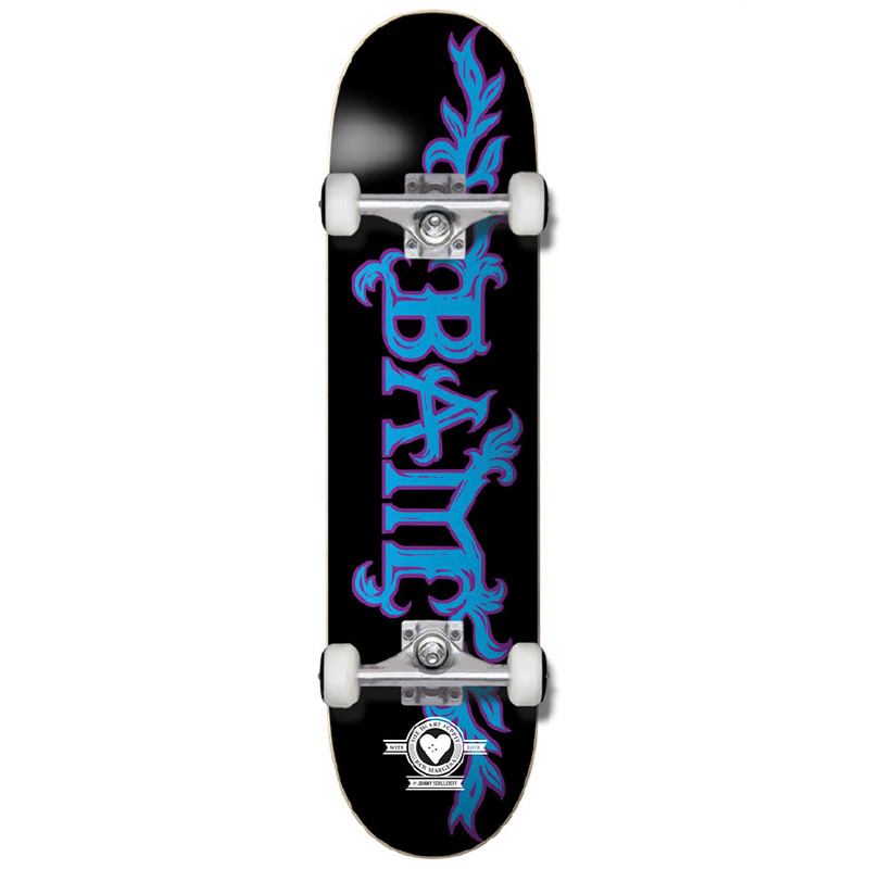 The Heart Supply Bam Margera Growth Pro Complete Skateboard Black/Blue 7.75