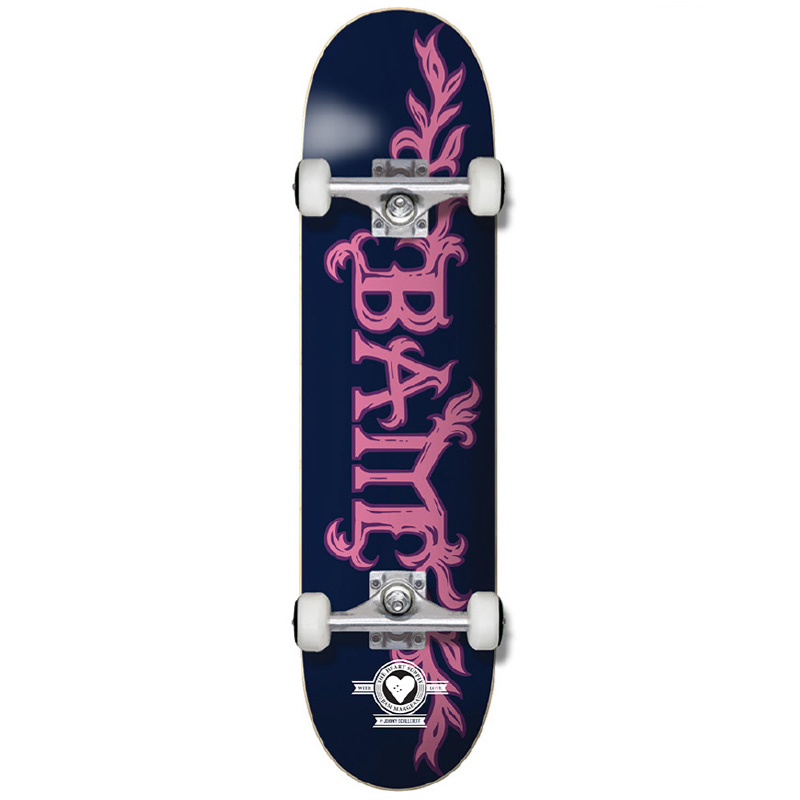 The Heart Supply Bam Margera Growth Pro Complete Skateboard Blue/Pink 7.5