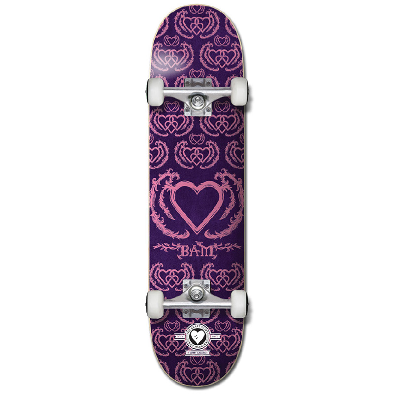 Heart Supply Bam Margera United Pro Complete Skateboard Purple/Pink 7.75