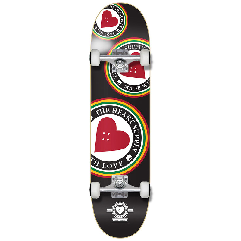 Heart Supply Orbit Logo Complete Skateboard Black 8.0