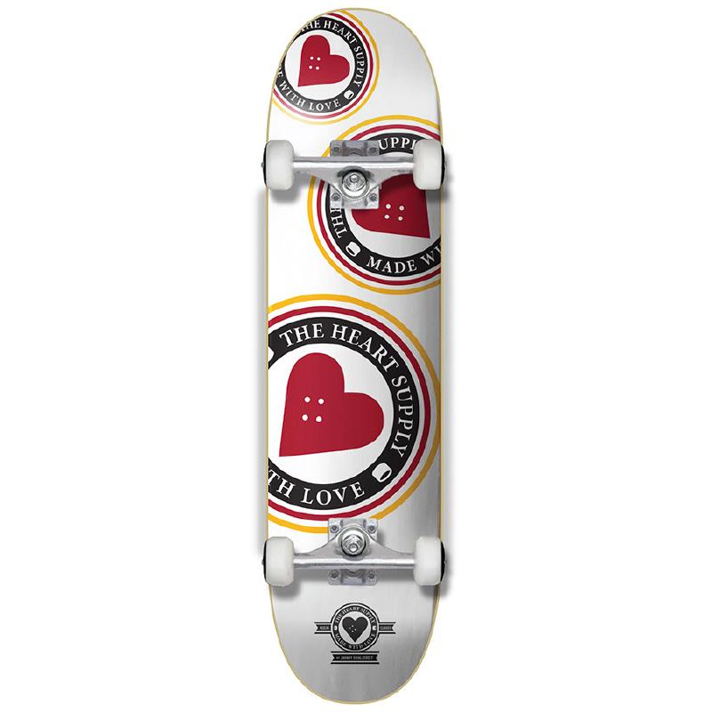 The Heart Supply Orbit Logo Complete Skateboard White 7.75