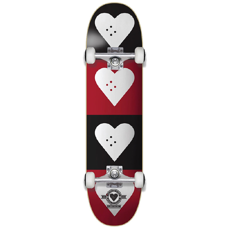 The Heart Supply Quad Logo Complete Skateboard Black/Red 7.75