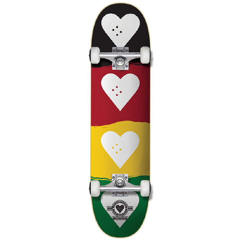 The Heart Supply Quad Logo Complete Skateboard Red/Gold/Green 8.25