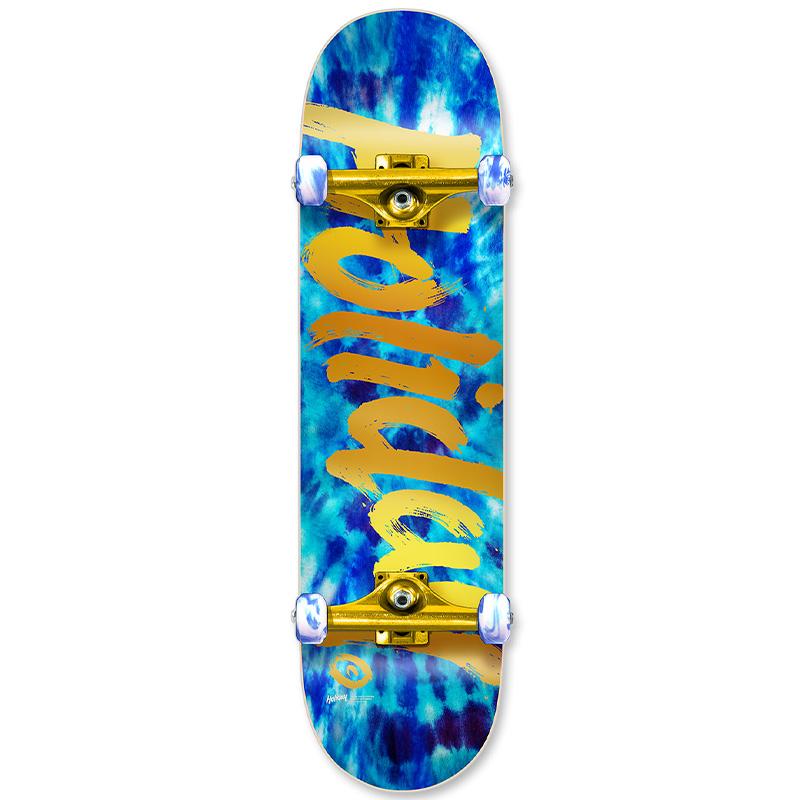 Holiday Skateboards Tie Dye Ice Complete Skateboard 7.75