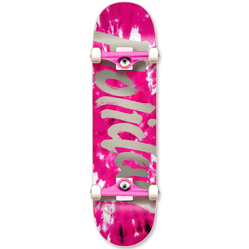 Holiday Skateboards Tie Dye Pink Complete Skateboard 7.75