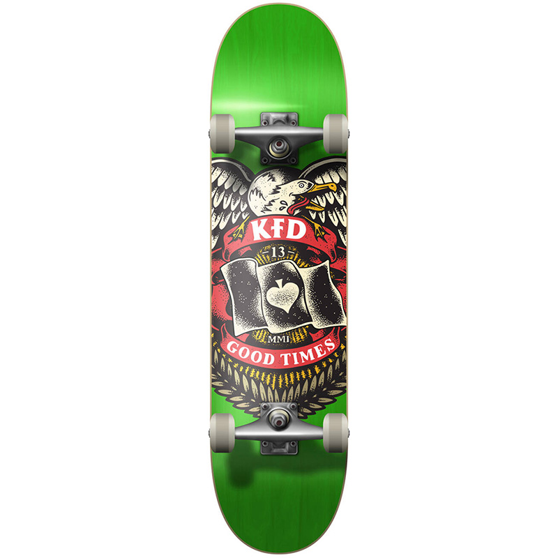 KFD Badge Young Guns Complete Skateboard Green 8.0